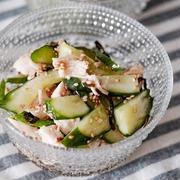 【macaroni掲載】レンジ調理でボリューム副菜!きゅうりとささみのやみつきサラダ#pr
