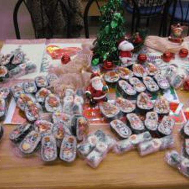 飾り巻き寿司クリスマス編