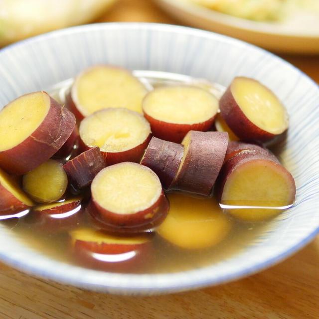 【レシピ】シンプルだけど大人気おかず。さつまいものハチミツ煮。すぐ作れますよ