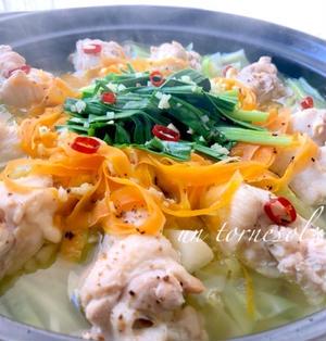 生姜で冷え予防☆安価で味も〆も最高な♪手羽元deタッカンマリ♡レシピ