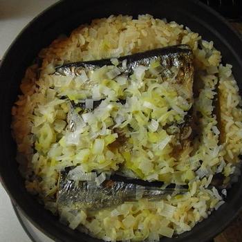 *ストウブで*秋刀魚の炊き込みごはん*