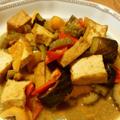 夏野菜と厚揚げのカレー風味煮