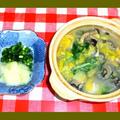 牡蠣鍋と牡蠣フライ