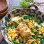 レンジで簡単!*ひき肉と豆腐と春雨のスタミナにら卵とろみ煮*