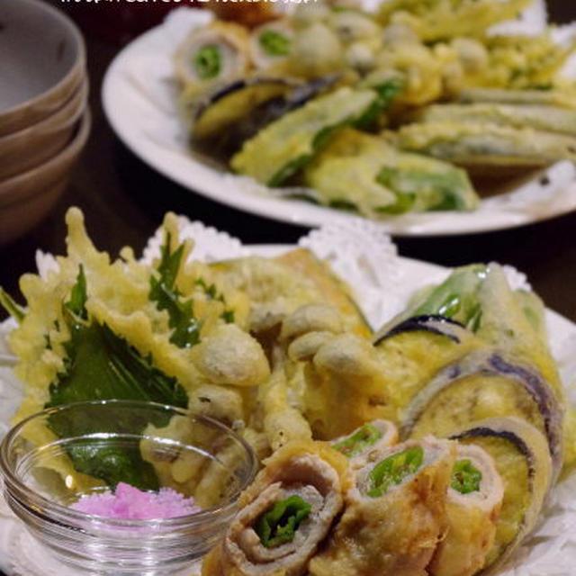 豚肉のししとう巻き ~天ぷら盛り合わせ~