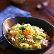 生姜たっぷり白菜と豚肉のピリ辛レンチン煮