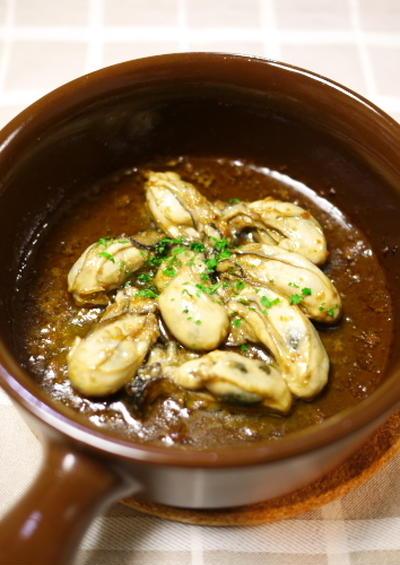 牡蠣のアヒージョ(オイル少なめ)