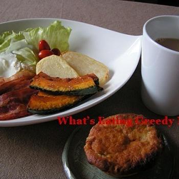 久しぶりにゆっくり朝食を食べる♪