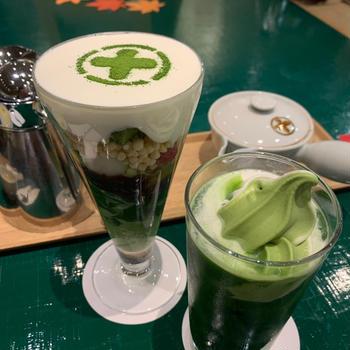 パフェとビールと紅葉の京都②中村藤吉のパフェ