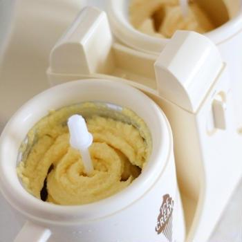 BRUNOデュアルアイスクリームメーカーで1度に2種類のアイスを作ってみた(濃厚バニラ&マンゴージャーベ)