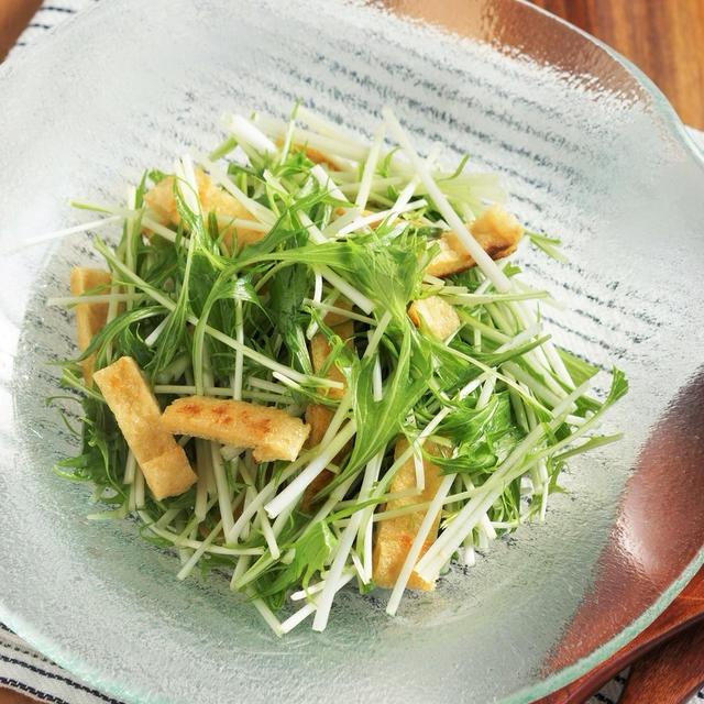 ハリハリきつねサラダを柚子胡椒ドレッシングで!