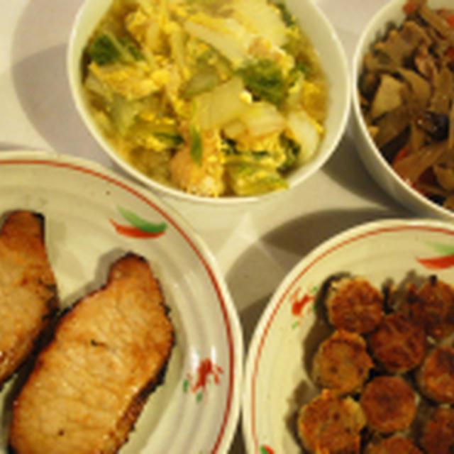 豚ロースの味噌漬け+3品