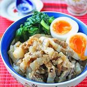 簡単煮込まずレンジで8分!台湾屋台味♪魯肉飯(ルーローハン)風どんぶり♪