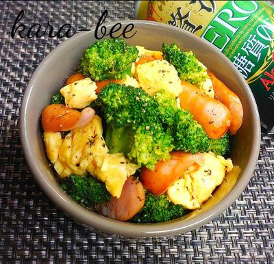 おつまみにお弁当に♪ブロッコリーと卵とウインナーの塩バター炒め【静岡県クッキングアンバサダー】
