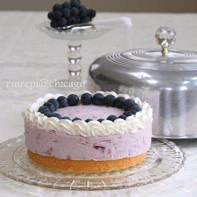 きらきら葡萄ゼリーのムースケーキ 驚くほど簡単です!