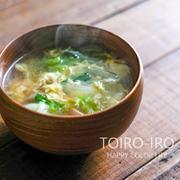 シャキシャキレタスと卵のコンソメスープと今日のレシピ