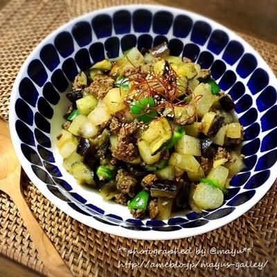 """いただいたお野菜で""""とうがんと茄子の麻婆煮""""作りました!クイック&イージーな「もう一品」レシピ!"""