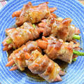 【グラタン弁当】♡蒲焼きのタレ風♡アスパラとウィンナーの肉巻き♡レシピあり♡
