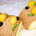 基本のロールケーキで作るモンブランロールケーキ/シンプルに複雑やん(^_^;) by HiroMaruさん