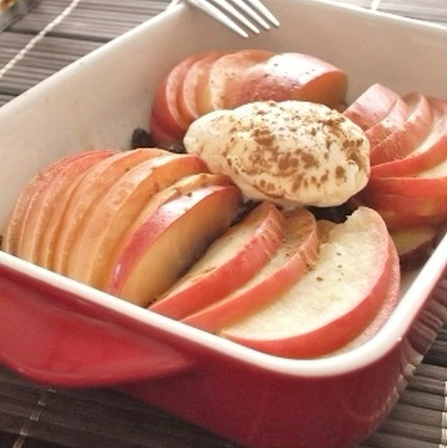リンゴとさつまいものホットデザート