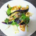 鯖のフリットと茄子のバルサミコ風味