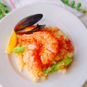炊飯器で簡単 トムヤムクン風パエリア