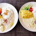 寒い日は優しい味☆オムレツと白菜とベーコンのクリームワンプレ♪~♪ by みなづきさん
