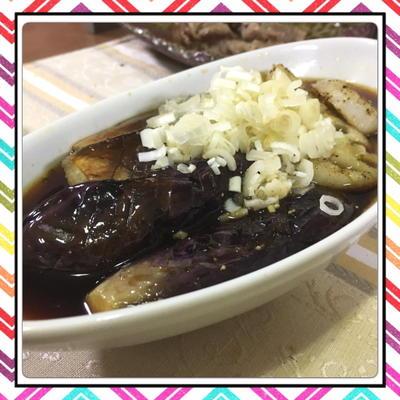 茄子と蓮根の簡単甘酢焼き浸し(レシピ付)