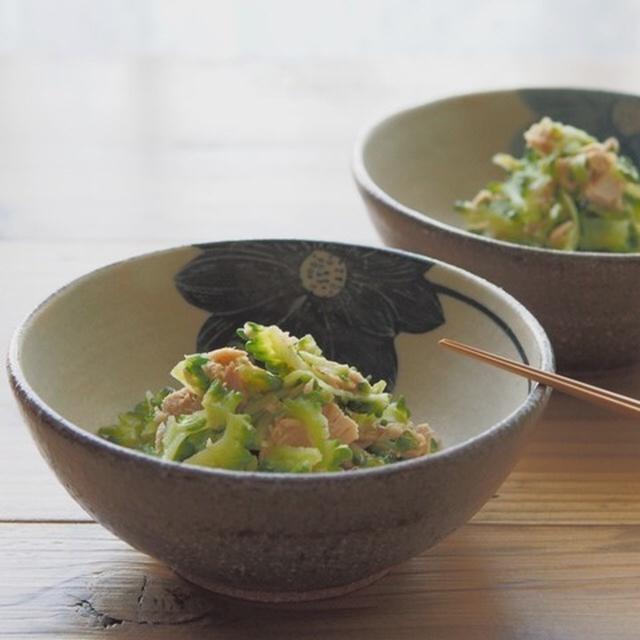 ゴーヤとツナのピリ辛昆布茶サラダ
