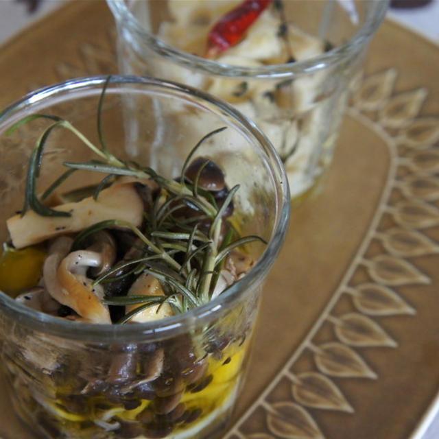 秋の常備菜 いろいろキノコのオイル煮
