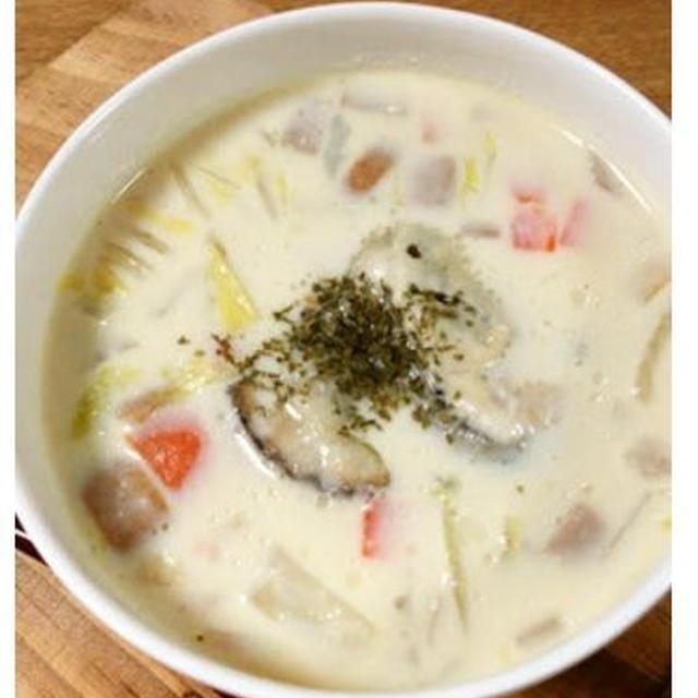 ★白菜入り豆乳牡蠣チャウダー★【レシピ】