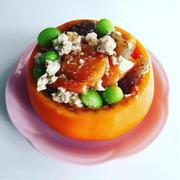 柿と枝豆の白和え by ぷうさん