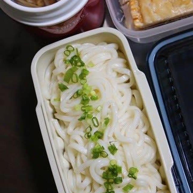 12月23日  豚肉と野菜の つけ汁うどん弁当&ミートパイ