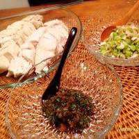 レンジでチン鶏!チューブスパイス簡単つけだれ2種〜からし紫蘇味噌&ねぎにんにく♪