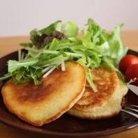 レーズン酵母でサラダパンケーキ