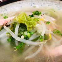 たっぷり野菜とベーコンのスープ♪隠し味にアレもちょい足し(*^_^*)