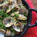 南スペイン☆地中海の味☆ヴェルデ・パエーリャ あさりの緑のパイエリア