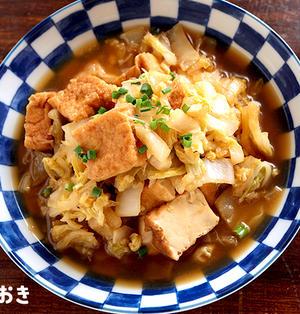 白菜と厚揚げの甘辛煮