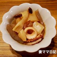 大根とイカの煮物&マグロのすき身丼♪ Simmered Daikon & Squid