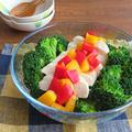 サラダチキンと塩ゆでブロッコリーのサラダ