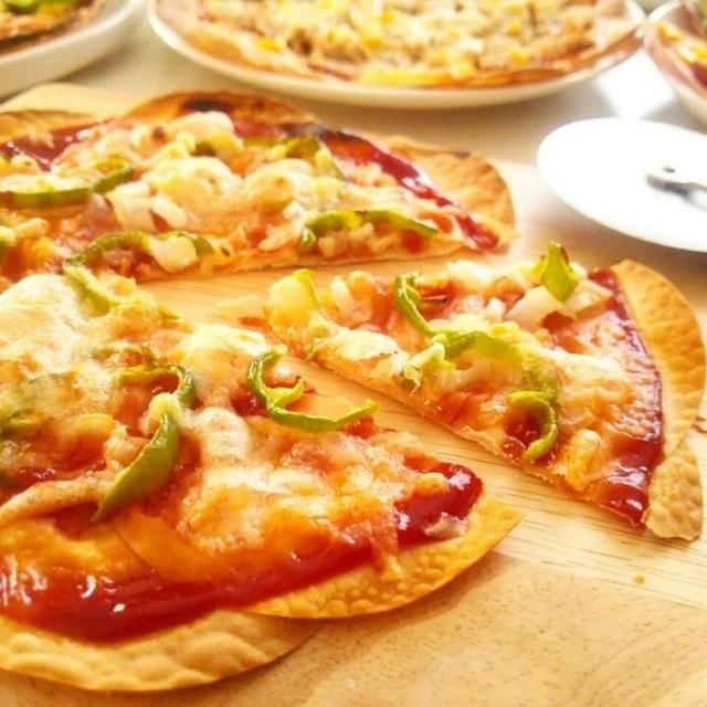 餃子の皮で作るピザ《オーブン編》