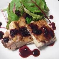 チキンのローストシナモン風味ブルーベリーソース★ブログのヘッダ画像
