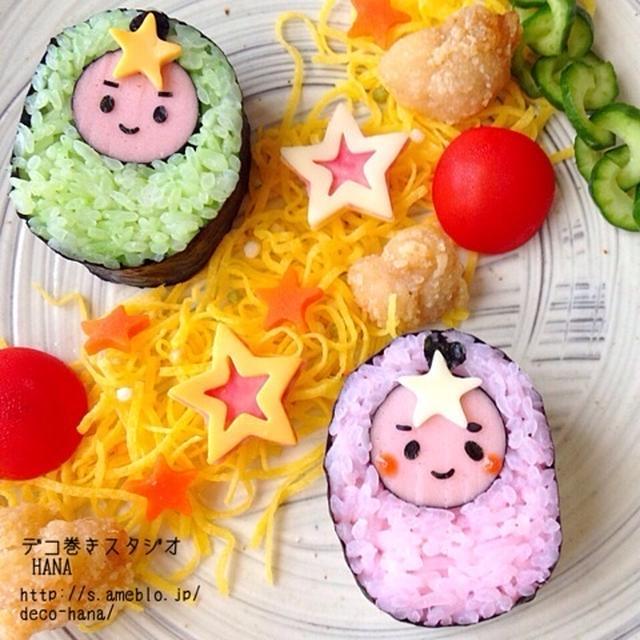 『織姫と彦星』の簡単巻き寿司