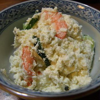 おからと海老のサラダ