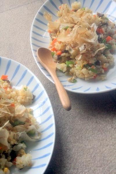 【夏休みレシピ】昆布の佃煮でチャーハン