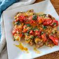 【鶏もも肉レシピ】パリパリチキンソテーの大葉ジェノベーゼソース