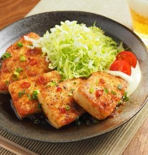 炒どうふのピリ辛生姜焼き 、 男前豆腐レシピ