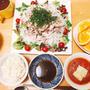 楽する夕食1週間献立、3日目。野菜たっぷり豚冷しゃぶとコンソメスープアレンジ②