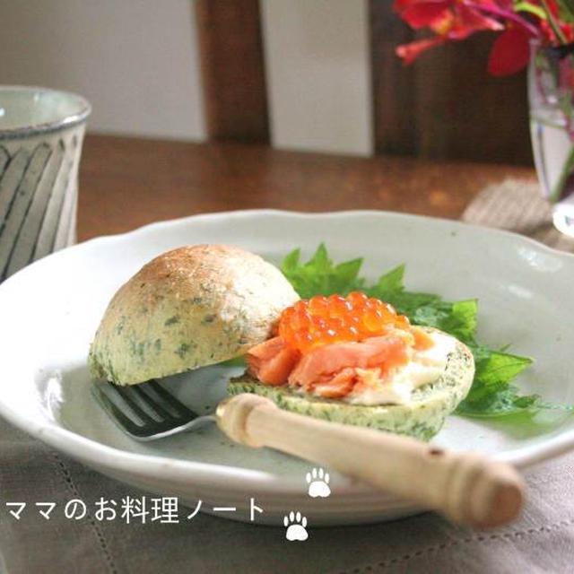 親子サンドの朝ごはん☆