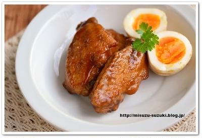 手羽先と卵のソース煮込み【作りおきレシピ】